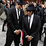 Today show hosts, Lester Holt and Al Roker, dressed as the Blues Brothers in NYC in 2014.