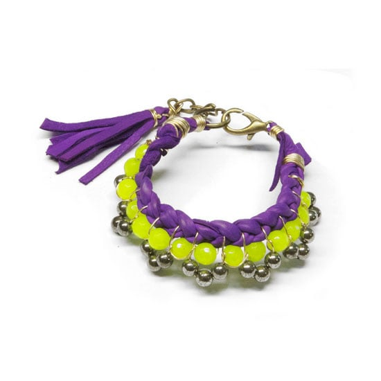 I really love neon jewellery, but would only ever go very minimal, like one item. This leather and mixed jewel bracelet by ToniMay has caught my eye. I think it's the perfect mix of pretty and fun, and could easily balance it out with a grey t-shirt and jeans. — Stephanie, beauty and health & fitness journalist Bracelet, $95, TONIMAY