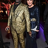 Corey Gamble and Kris Jenner at Diddy's 50th Birthday Party