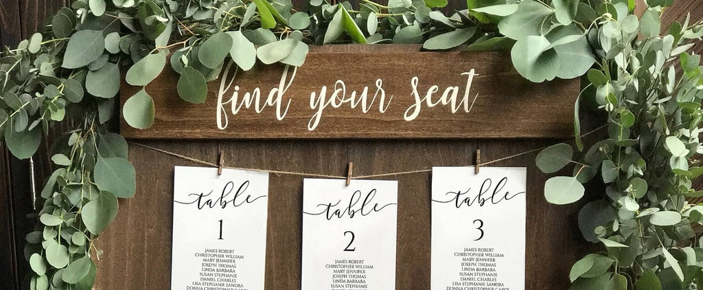 Unconventional Seating Charts From Etsy