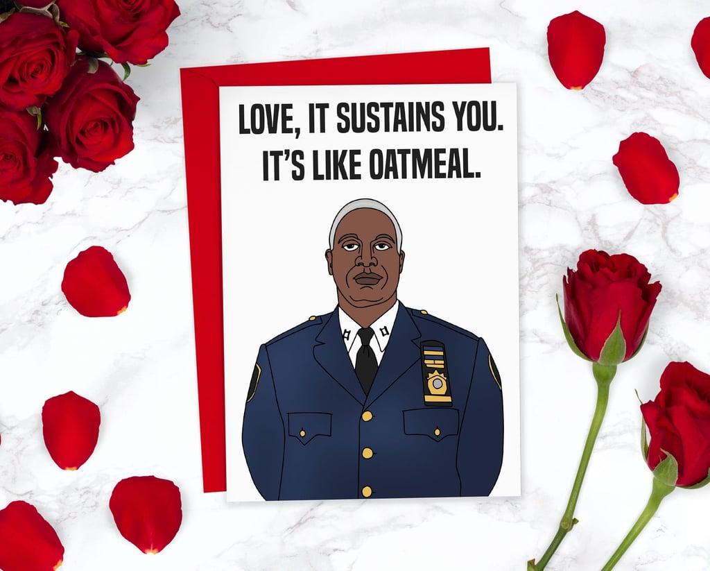 Brooklyn-99 Captain Holt Valentine's Day Card
