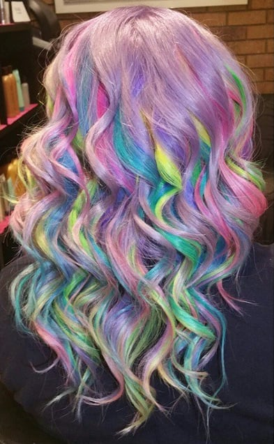Pastel Surprise Sand Art Rainbow Hair Color Popsugar