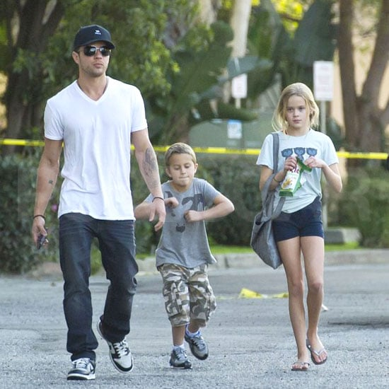 Ryan Phillippe spent his weekend in LA with kids Ava and Deacon, and on Saturday he stepped out to pick them up from a dance class. Yesterday, the trio stuck together for breakfast at IHOP. Ava and Deacon logged a couple days with their dad while mom Reese Witherspoon did press for How Do You Know in Berlin and then headed to Paris, where she reportedly starting shopping for a wedding dress ahead of her upcoming wedding to fiancé Jim Toth. Ryan, while not engaged himself, seems to be having luck in the romance department nonetheless, as his relationship with Amanda Seyfried moves forward.