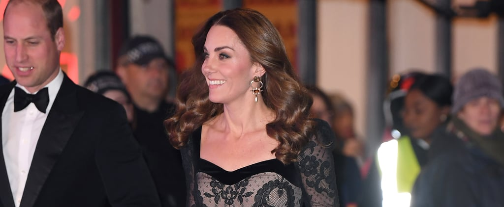 Kate Middleton Stuns in Sheer Black Alexander McQueen Gown