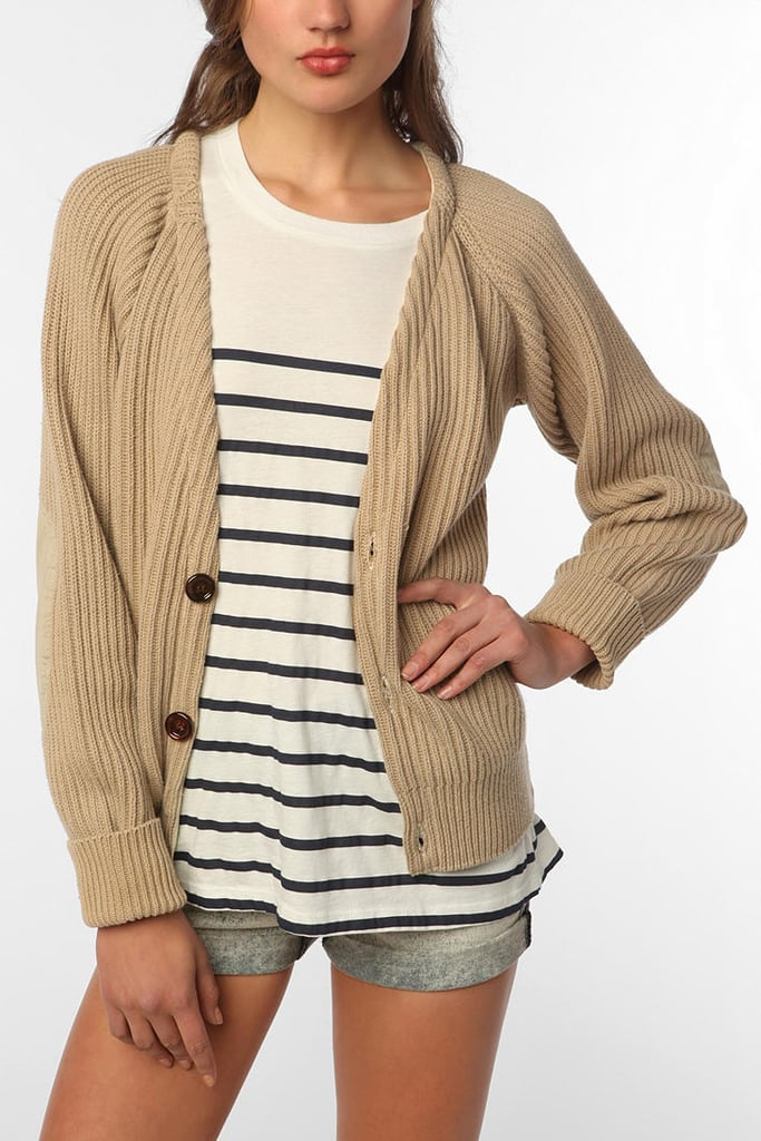 For cooler evenings, layer your striped separates with a chunky neutral-toned cardigan. Urban Renewal Oversized Cotton Cardigan ($49)