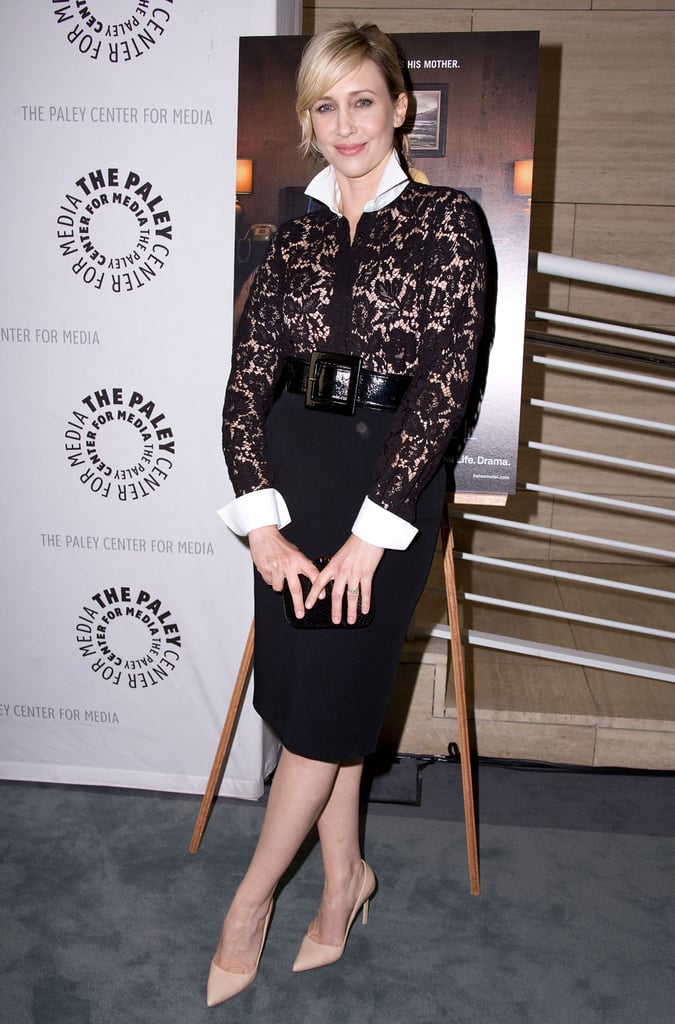 For a screening of Bates Motel, Vera outfitted a slim pencil skirt with a lacy blouse for a polished-cum-sexy combination.