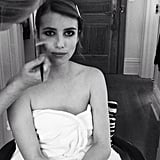 Emma Roberts rocked a seriously punk (and wildly appropriate) smoky eye for the Met Gala. Source: Instagram user emmaroberts6