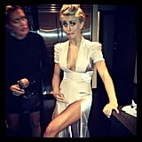 Julianne Hough danced a little too hard at the InStyle party.  Source: Instagram user juleshough