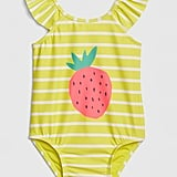 Strawberry Ruffle Swim One-Piece