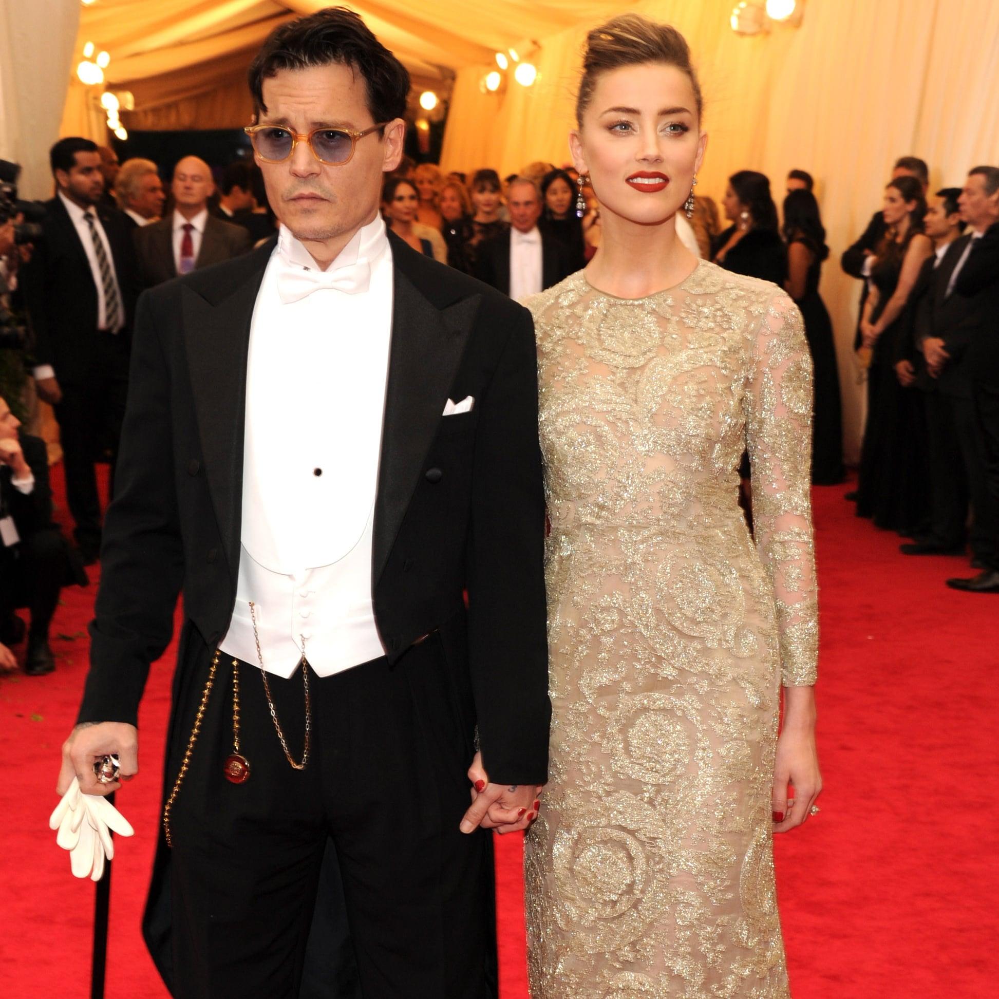 Johnny Depp and Amber Heard at the Met Gala 2014 | POPSUGAR Celebrity