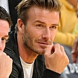 David Beckham at the Lakers Game After MLS Cup Win