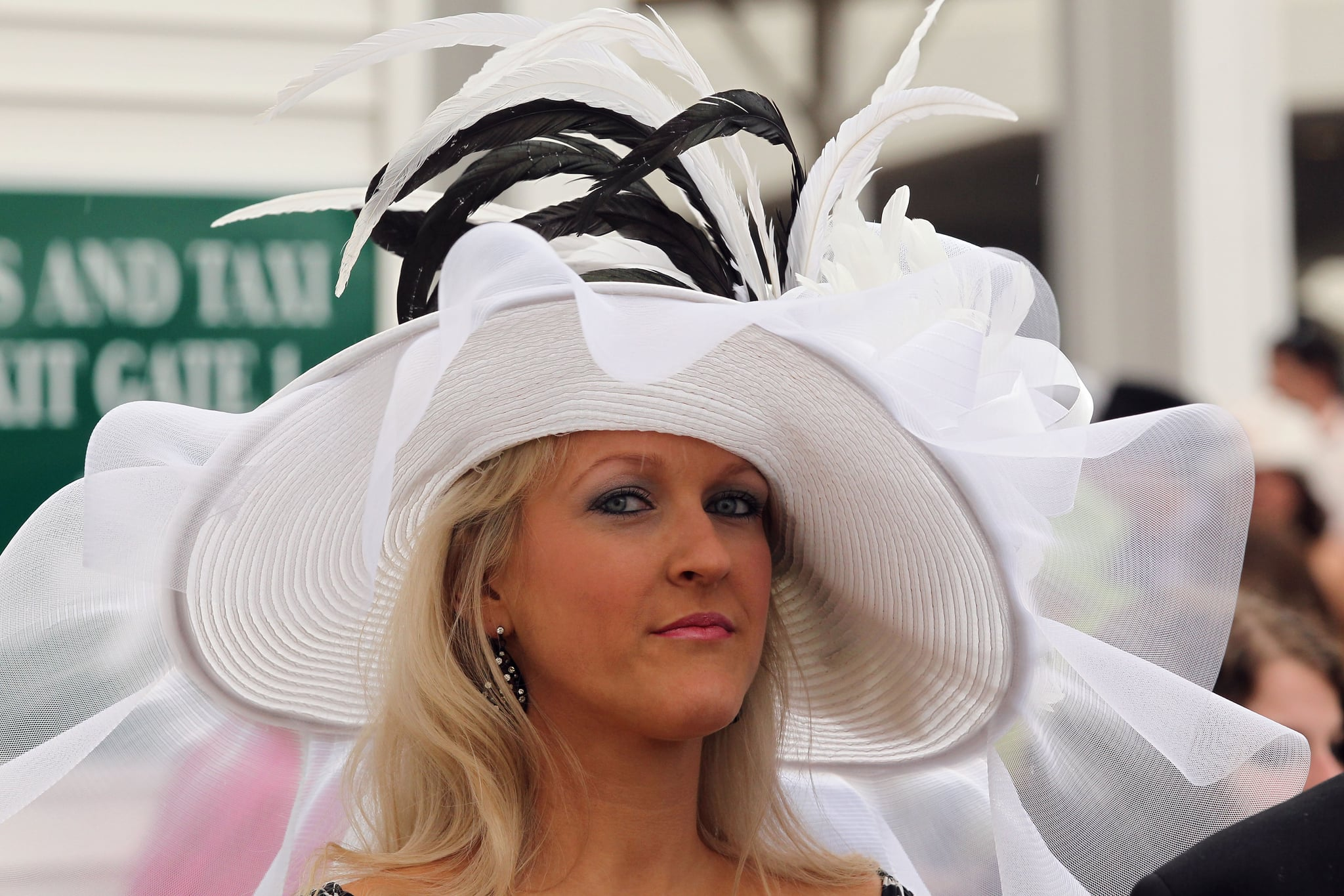 In 2011, this hat would surely block some views.