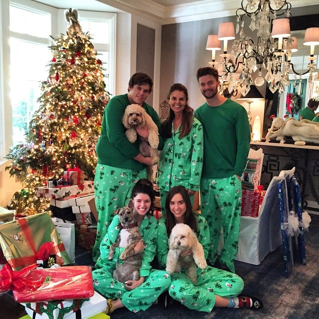 Before meeting up with Miley in Idaho, Patrick spent Christmas with his family, including his mom Maria.