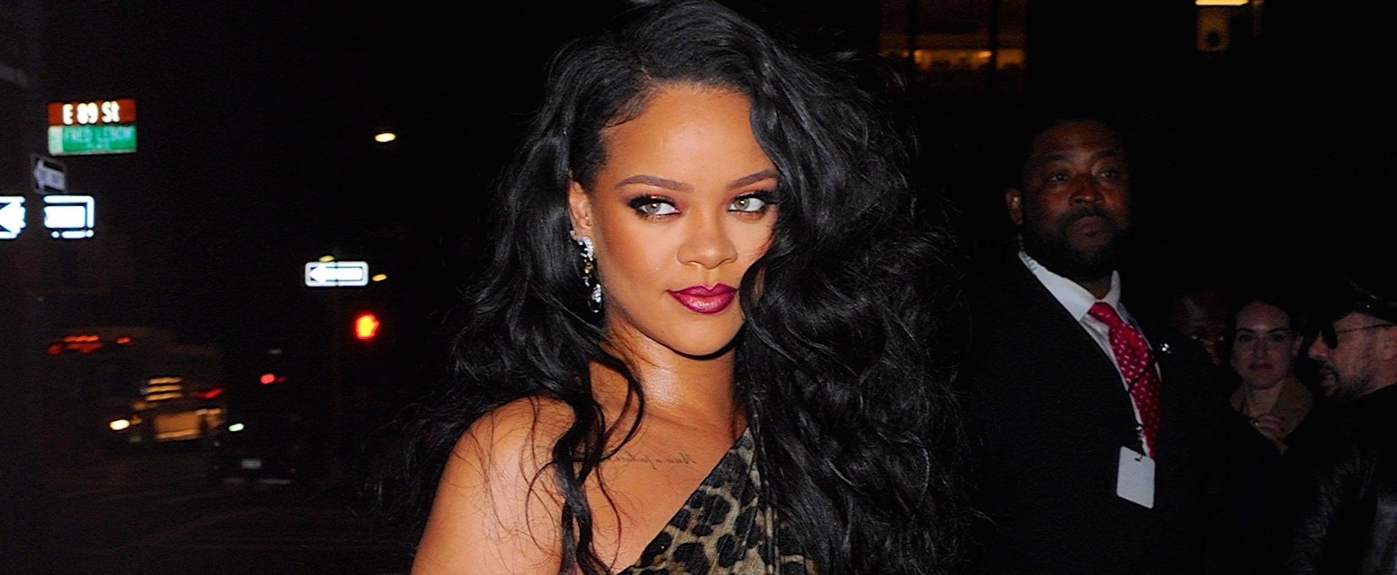 Rihanna Celebrates Her Book Launch in a Leopard Dress