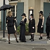Lange, Roberts, Brewer, Farmiga, and Gabourey Sidibe in American Horror Story: Coven.