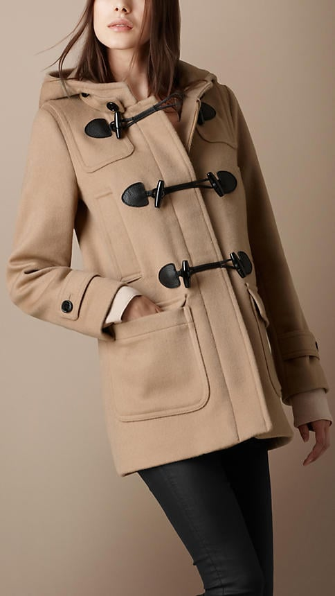 Burberry's Four-Pocket Duffle Coat ($995) is classic in every way — wear it with leather leggings and booties.