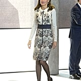 Queen Letizia's Dress Is as Fancy as the China You Use For Christmas Dinner