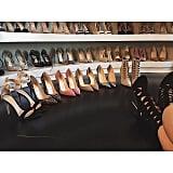 Her closet would make Carrie Bradshaw jealous.