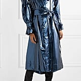 Marc Jacobs Belted Metallic Vinyl Coat