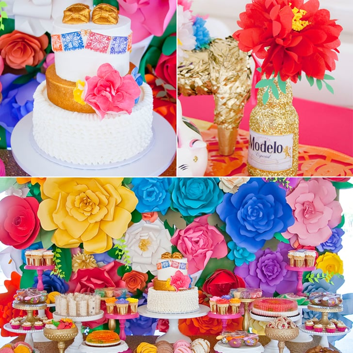 colorful mexican fiesta baby shower popsugar moms