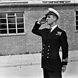 At the Royal Naval Officers School in 1947