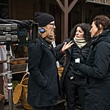 Director Jennifer Getzinger chats with co-executive producer Maril Davis on set during season four.