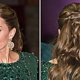 Kate Middleton's Twisted, Half-Updo, 2019