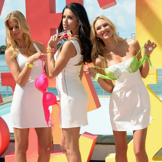 Pictures of Victoria's Secret Angels Adriana Lima, Candice Swanepoel and Erin Heatherton in Miami for the Very Sexy Jet Tour