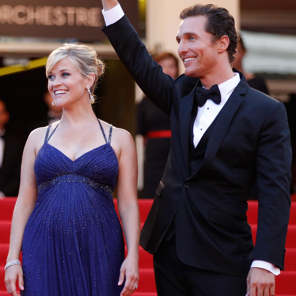 Pregnant Reese Witherspoon Pictures in Versace With Matthew McConaughey at Mud Premiere in Cannes
