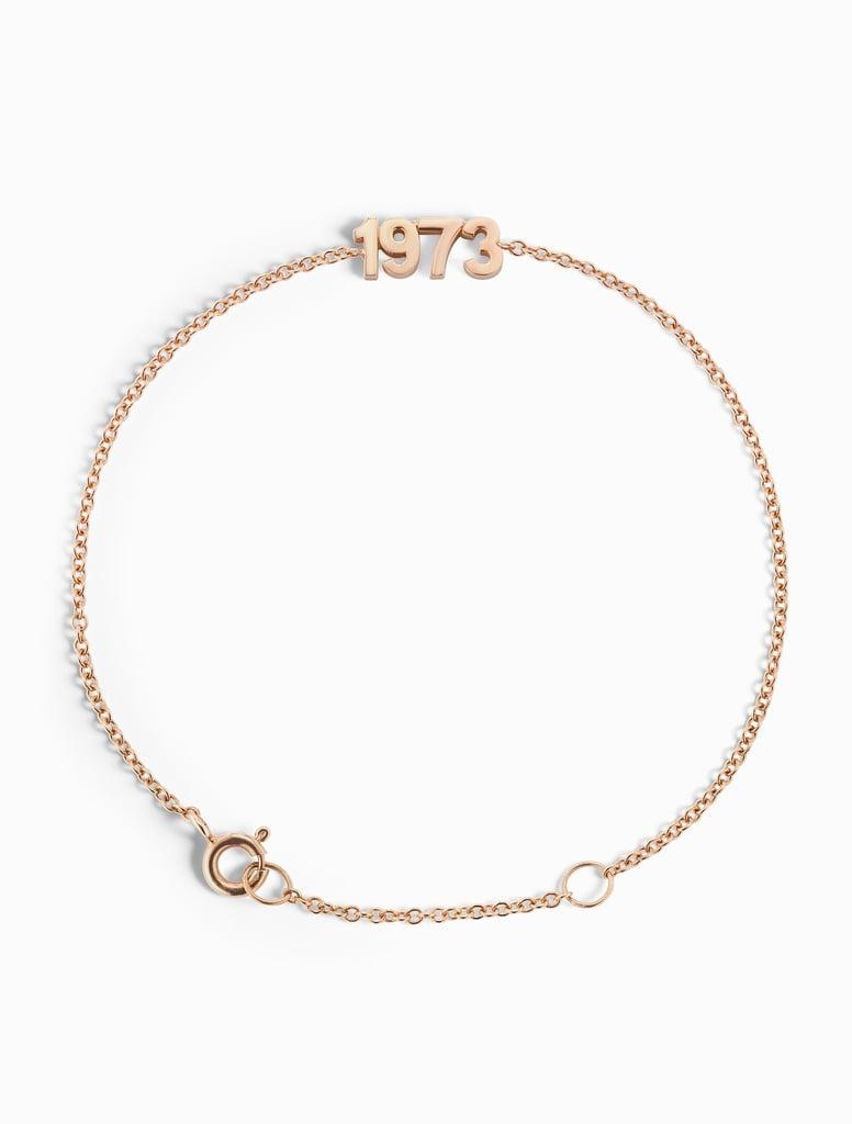 Sophie Ratner 1973 Gold Bracelet | Selena Gomez's Blue Dress