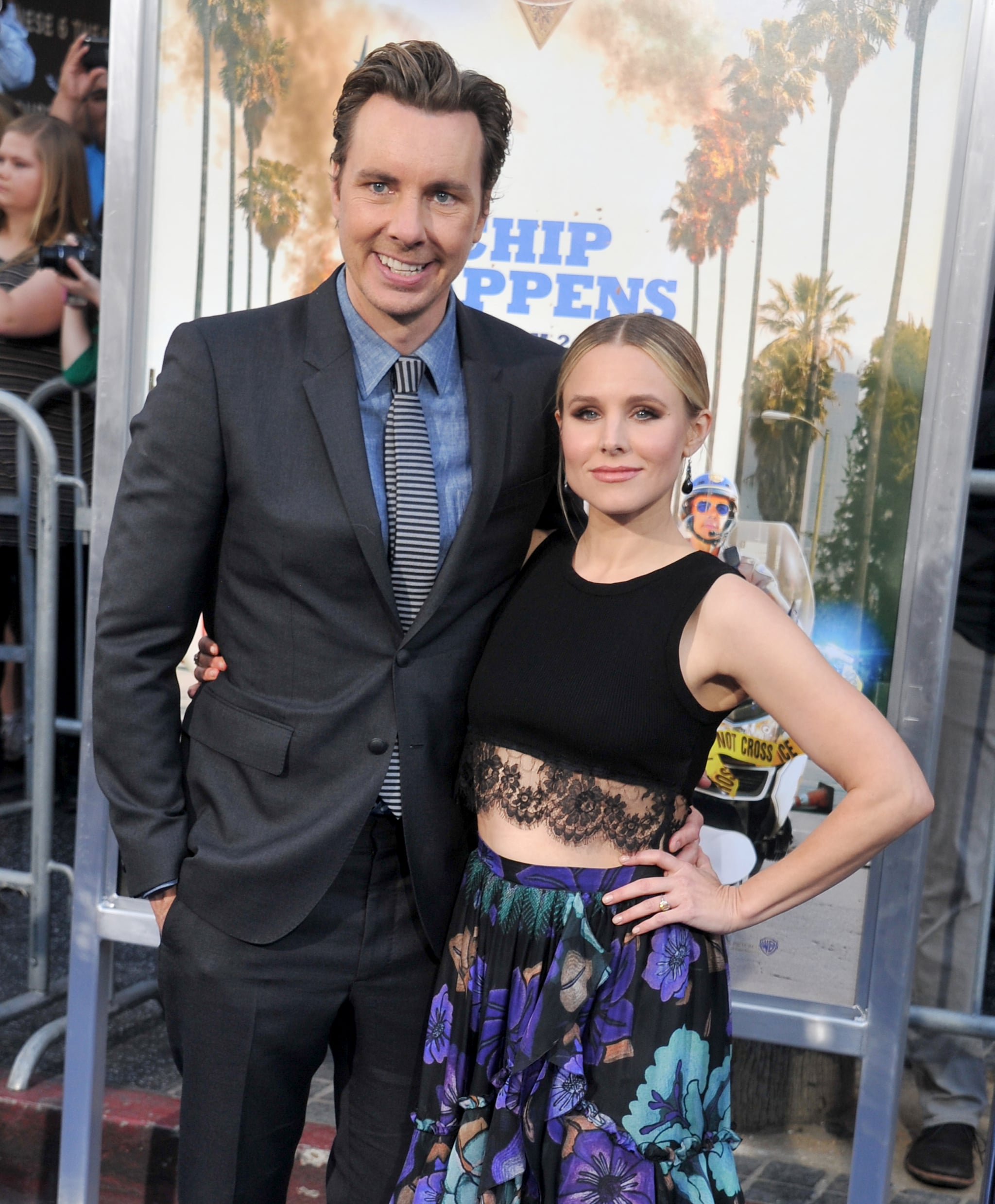 HOLLYWOOD, CA - MARCH 20:  Actors Dax Shepard and Kristen Bell arrive at the premiere of Warner Bros. Pictures'