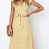Prettygarden Striped Dress