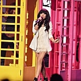 Carly Rae Jepsen wore white to perform in LA.