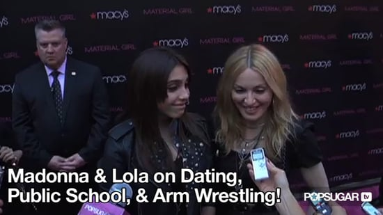 Video of Madonna and Lourdes Leon Promoting Material Girl in New York 2010-09-23 10:11:15