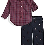 Ralph Lauren Cotton Poplin Shirt & Schiffli Pants