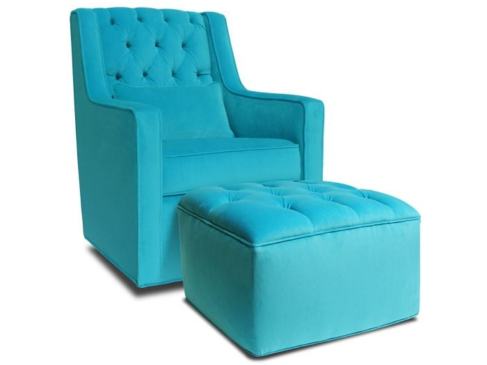 Jennifer Delonge Grand Glider and Ottoman ($1,090)