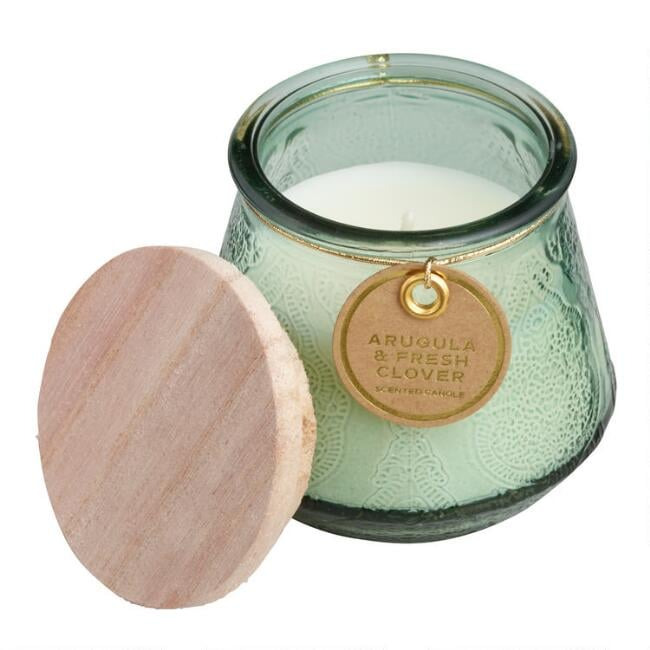 Fresh Arugula and Clover Marrakesh Filled Jar Candle