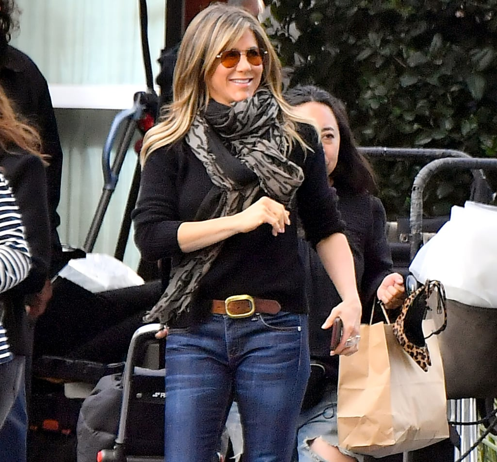 Jennifer Aniston's Aviator Sunglasses April 2019