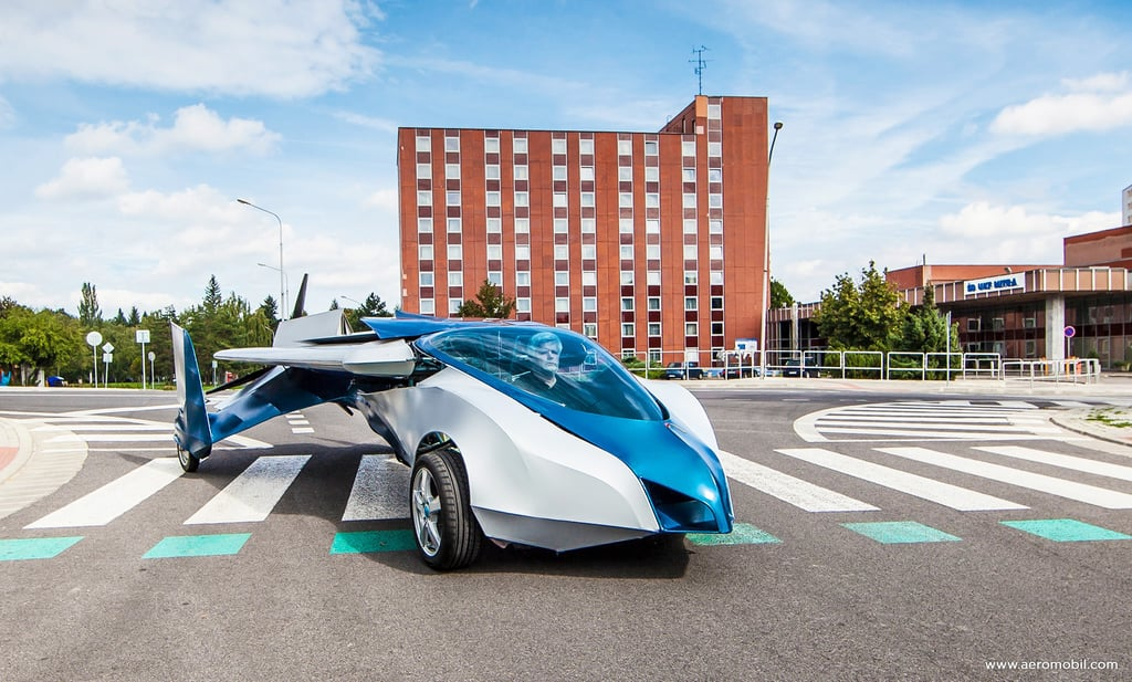 The AeroMobil combines the performance of a sports car with qualities of an ultralight plane.