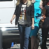 Reese Witherspoon stepped out wearing a Stand Up 2 Cancer t-shirt in LA.