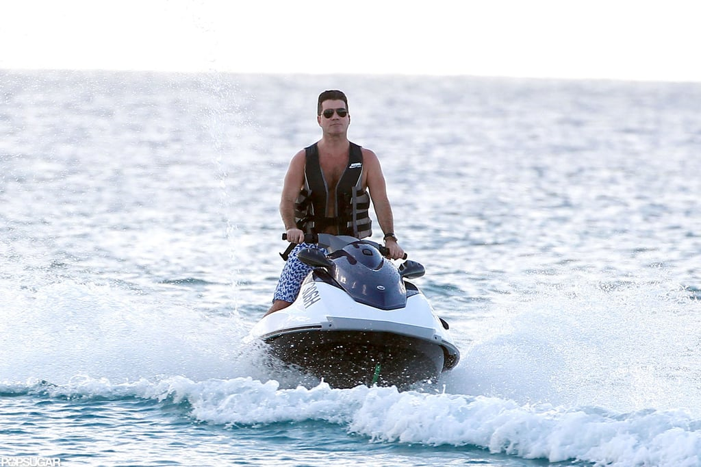 Shirtless Simon Cowell Escapes to Barbados For Some Serious Thinking