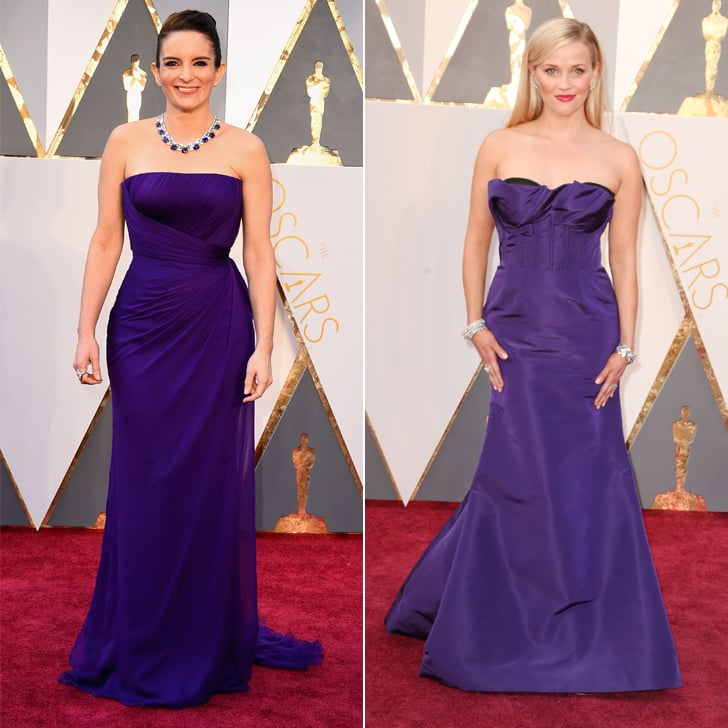 Reese Witherspoon and Tina Fey Matching at Oscars 2016 | POPSUGAR ...