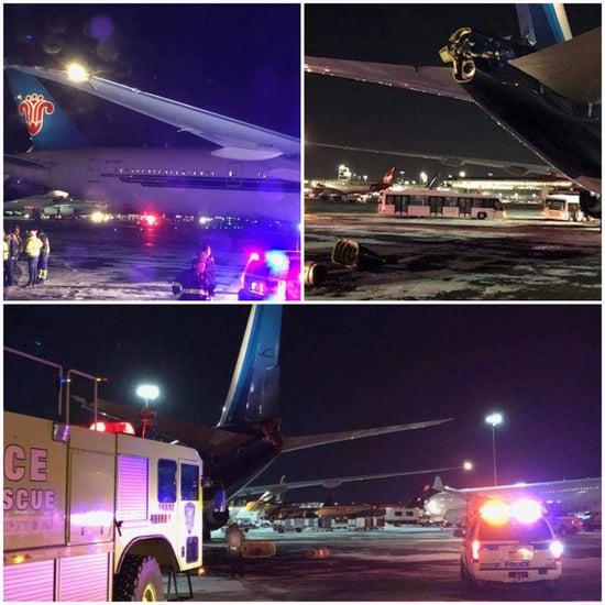 Kuwait Airways Jet Struck By Chinese Plane at JFK