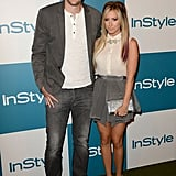 Ashley Tisdale was accompanied by boyfriend Scott Speer at InStyle's Summer party in LA.