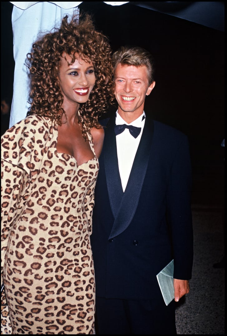Iman And David Bowie In 1991 Celebrity Couples First
