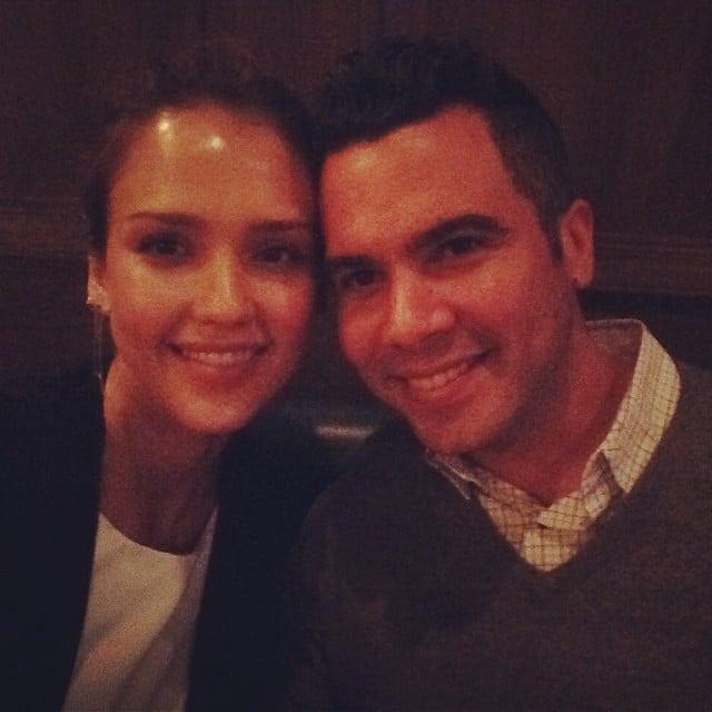 """""""I've officially spent a decade of my life w this hottie -love of my life @cash_warren u make me so happy #bday #dinner,"""" Jessica Alba captioned this photo of her and husband Cash Warren. Source: Instagram user jessicaalba"""