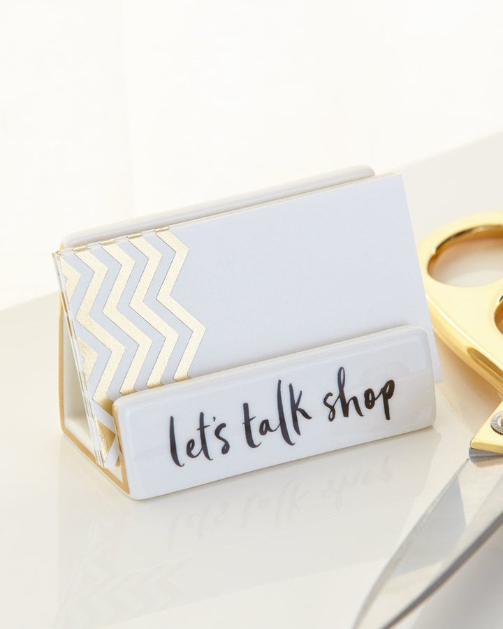 Kate Spade Desktop Business Card Holder | Holiday Gifts For Female ...