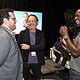 Josh Gad, Billy Crystal, and Sterling K. Brown