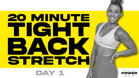 20-Minute Stretch For Tight Backs Video From Sydney Cummings