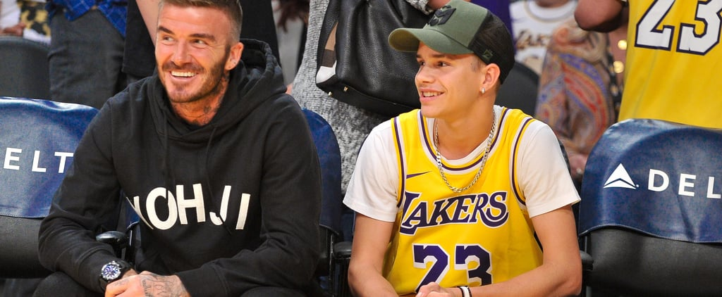 Photos of Romeo and David Beckham Twinning at Lakers Game